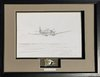 Original Spitfire Pencil Drawing with Genuine Fragment