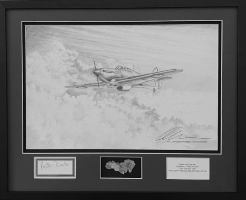 Original Hurricane Drawing, Billy Drake Signature and Fragment